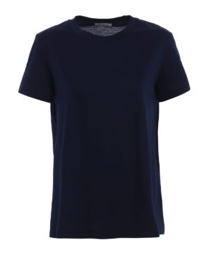 Moncler: t-shirts - Jersey and cloth flared T-shirt