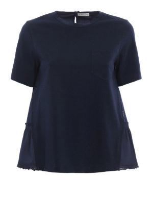 Moncler: t-shirts - Jersey and poplin T-shirt