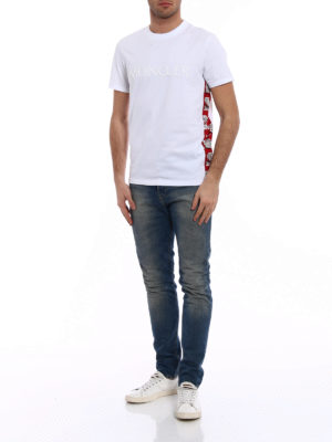 Moncler: t-shirts online - Cartoon side band white Tee