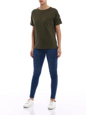 Moncler: t-shirts online - Dark green cotton jersey T-shirt