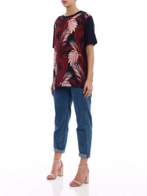 Moncler: t-shirts online - Silk and cotton T-shirt