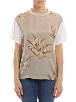 Moncler: t-shirts online - Silk front T-shirt