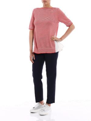 Moncler: t-shirts online - Striped sailor style T-shirt