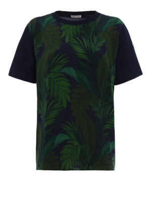 Moncler: t-shirts - Silk and cotton patterned T-shirt