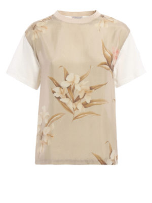 Moncler: t-shirts - Silk front T-shirt