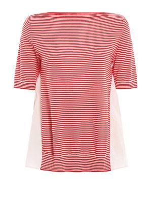 Moncler: t-shirts - Striped sailor style T-shirt