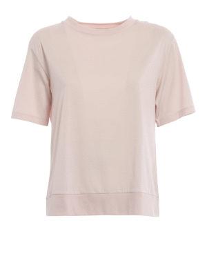 Moncler: t-shirts - Techno panelled pink T-shirt