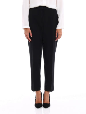 Moncler: Tailored & Formal trousers online - Satin detailed formal trousers