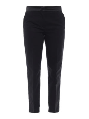 Moncler: Tailored & Formal trousers - Stretch cotton black trousers