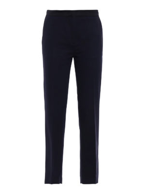 Moncler: Tailored & Formal trousers - Stretch cotton dark blue trousers