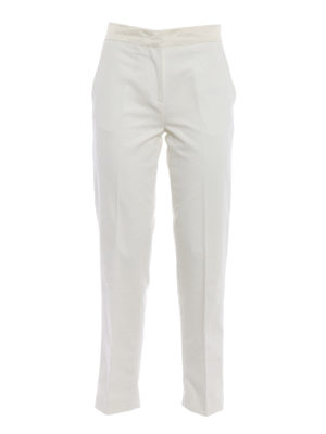 Moncler: Tailored & Formal trousers - Stretch cotton white trousers