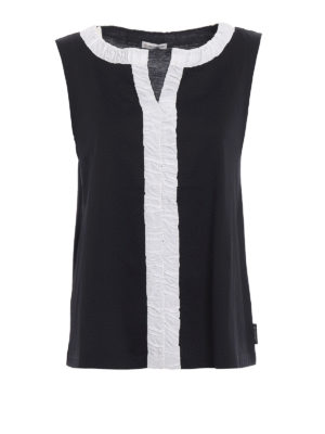 Moncler: Tops & Tank tops - Contrasting inserts tank top