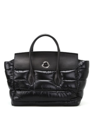 Moncler: totes bags - Evera nylon and leather large tote