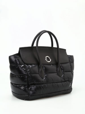 Moncler: totes bags online - Evera nylon and leather large tote