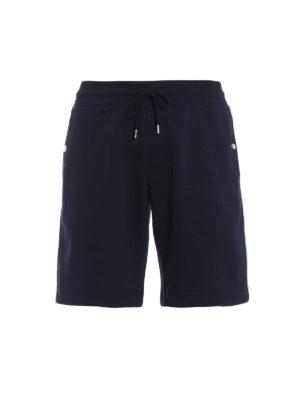 Moncler: tracksuit bottoms - Dark blue short track pants