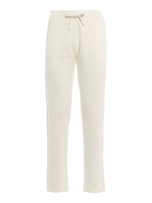 Moncler: tracksuit bottoms - Grosgrain trimmed trousers