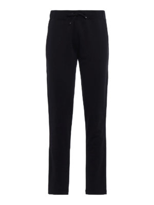 Moncler: tracksuit bottoms - Grosgrain trimmed trousers