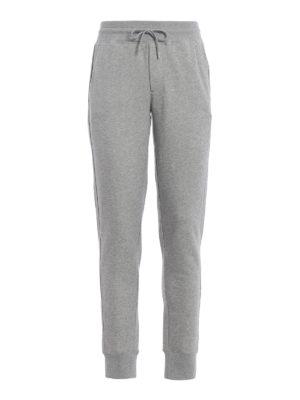 Moncler: tracksuit bottoms - Light grey jersey track pants