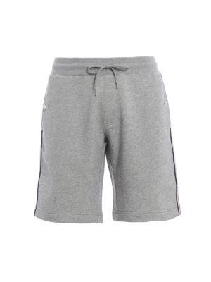 Moncler: tracksuit bottoms - Light grey short track pants