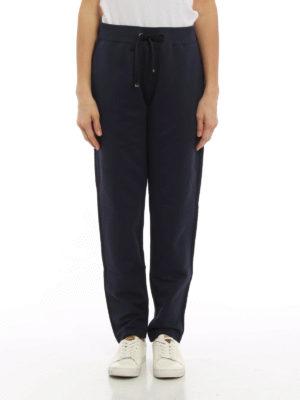 Moncler: tracksuit bottoms online - Grosgrain trimmed trousers