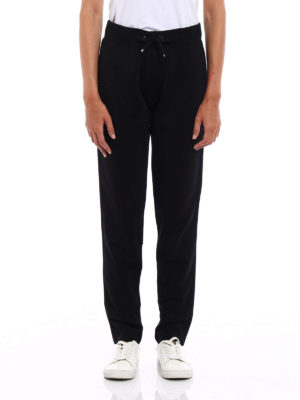 Moncler: tracksuit bottoms online - Grosgrain trimmed trousers