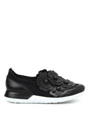 Moncler: trainers - Emy flower patch slip-ons