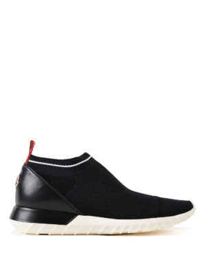 MONCLER: sneakers - Sneaker Giroflee in jersey e pelle