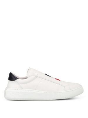Moncler: trainers - Herve slip-on leather sneakers