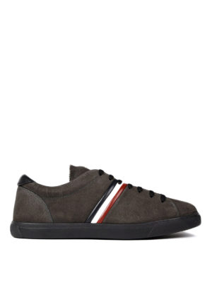 Moncler: trainers - La Goure suede sneakers