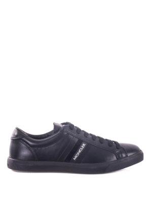 Moncler: trainers - La Monaco leather low-top sneakers
