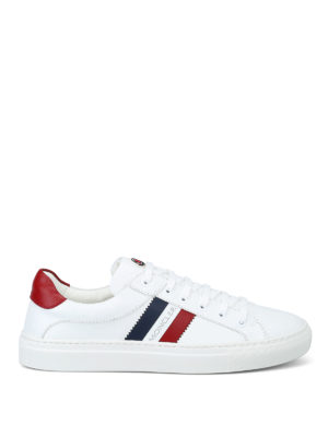 MONCLER: sneakers - Sneaker basse New Leni in pelle