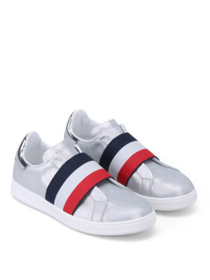 Moncler: trainers online - Alizee silver slip-on sneakers