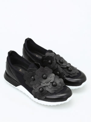 Moncler: trainers online - Emy flower patch slip-ons