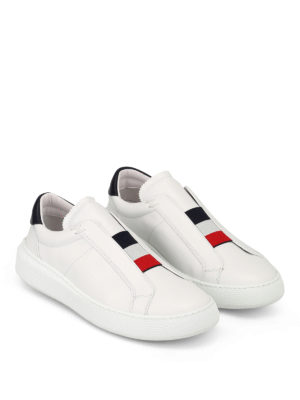 Moncler: trainers online - Herve slip-on leather sneakers