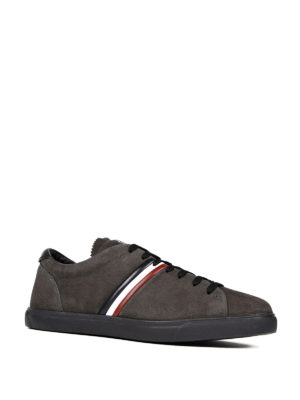 Moncler: trainers online - La Goure suede sneakers