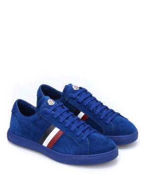Moncler: trainers online - La Monaco suede sneakers