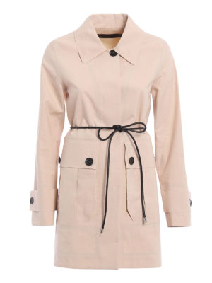 Moncler: trench coats - Galette cotton trench coat