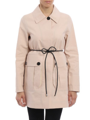 Moncler: trench coats online - Galette cotton trench coat