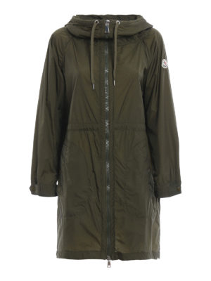 Moncler: trench coats - Ortie hooded nylon coat