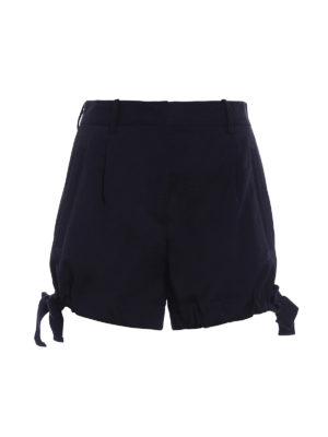 Moncler: Trousers Shorts - Cotton drawstring detailed shorts