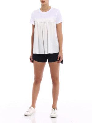 Moncler: Trousers Shorts online - Cotton drawstring detailed shorts
