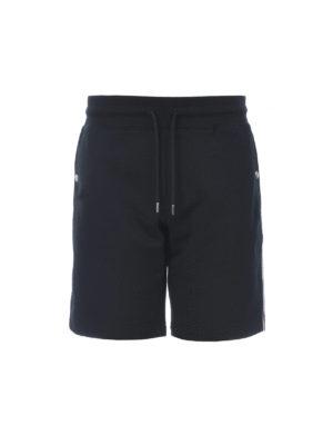 MONCLER: pantaloni shorts - Pantaloni corti con righe tricolore