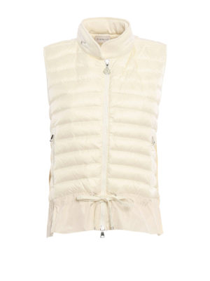 Moncler: waistcoats & gilets - Flounced padded waistcoat