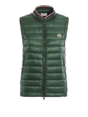 Moncler: waistcoats & gilets - Front padded zip gilet