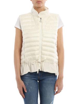 Moncler: waistcoats & gilets online - Flounced padded waistcoat