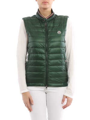 Moncler: waistcoats & gilets online - Front padded zip gilet