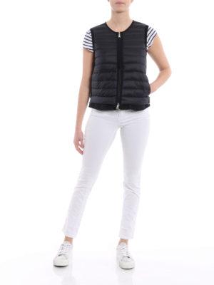 Moncler: waistcoats & gilets online - Padded front black cotton vest
