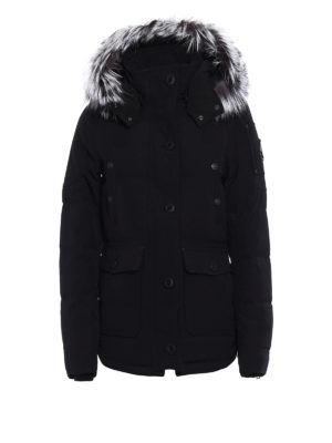 Moose Knuckles: padded jackets - Quebec fur trimmed techno jacket