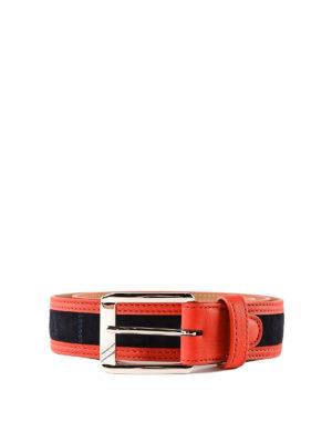 cff1d0ea70c20 MORESCHI  cinture - Cintura a due colori in camoscio e pelle
