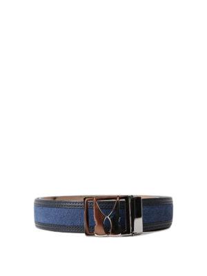 Moreschi: belts - Denim effect leather belt